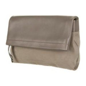 Tiffany & Co. Leather Serena Clutch - Taupe
